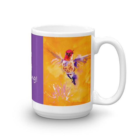 """Well Hello"" Hummingbird Mug"