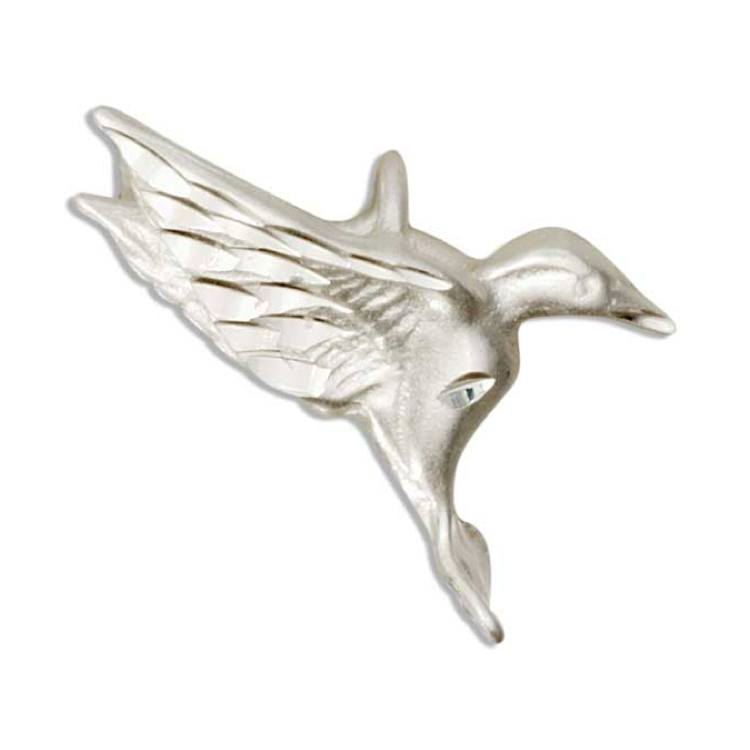 Jewelry - Sterling Silver 3D Hovering Hummingbird Pendant