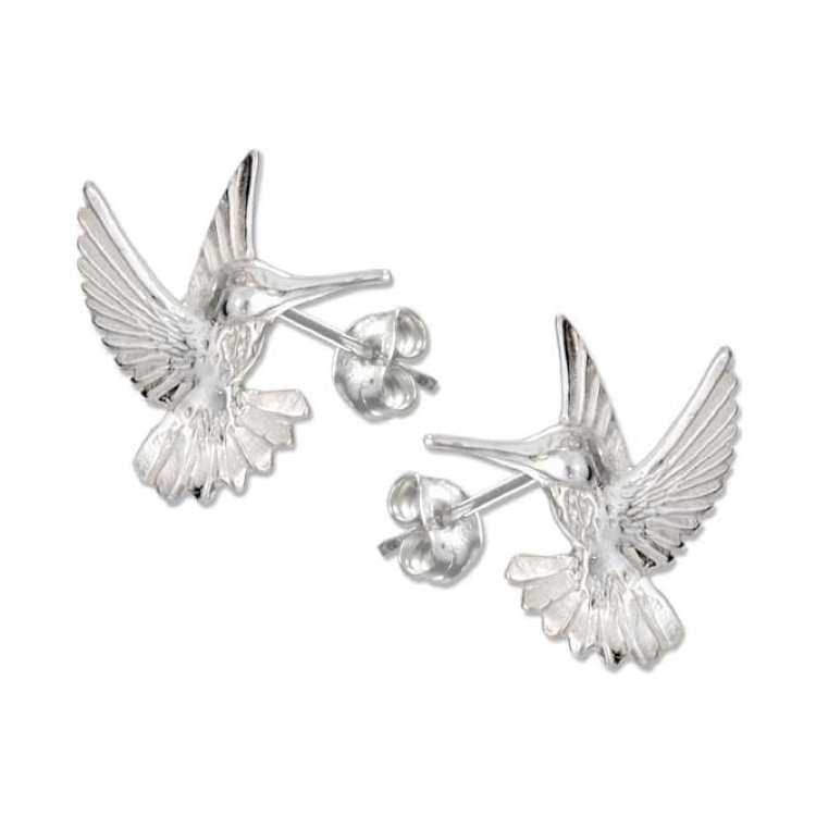 Jewelry - Sterling Silver Hummingbird Post Earrings