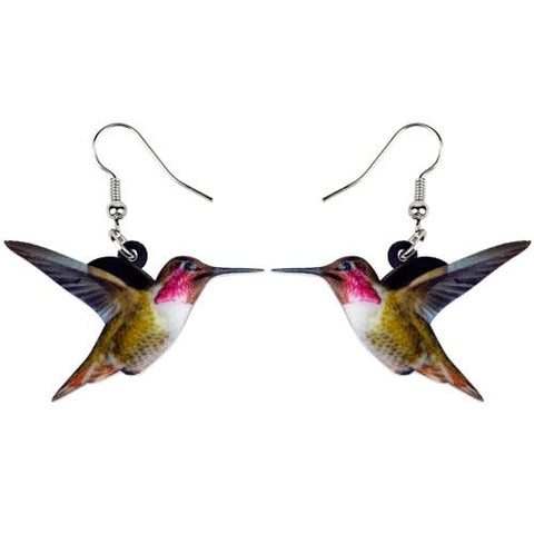 Ruby-throated Hummingbird Earrings