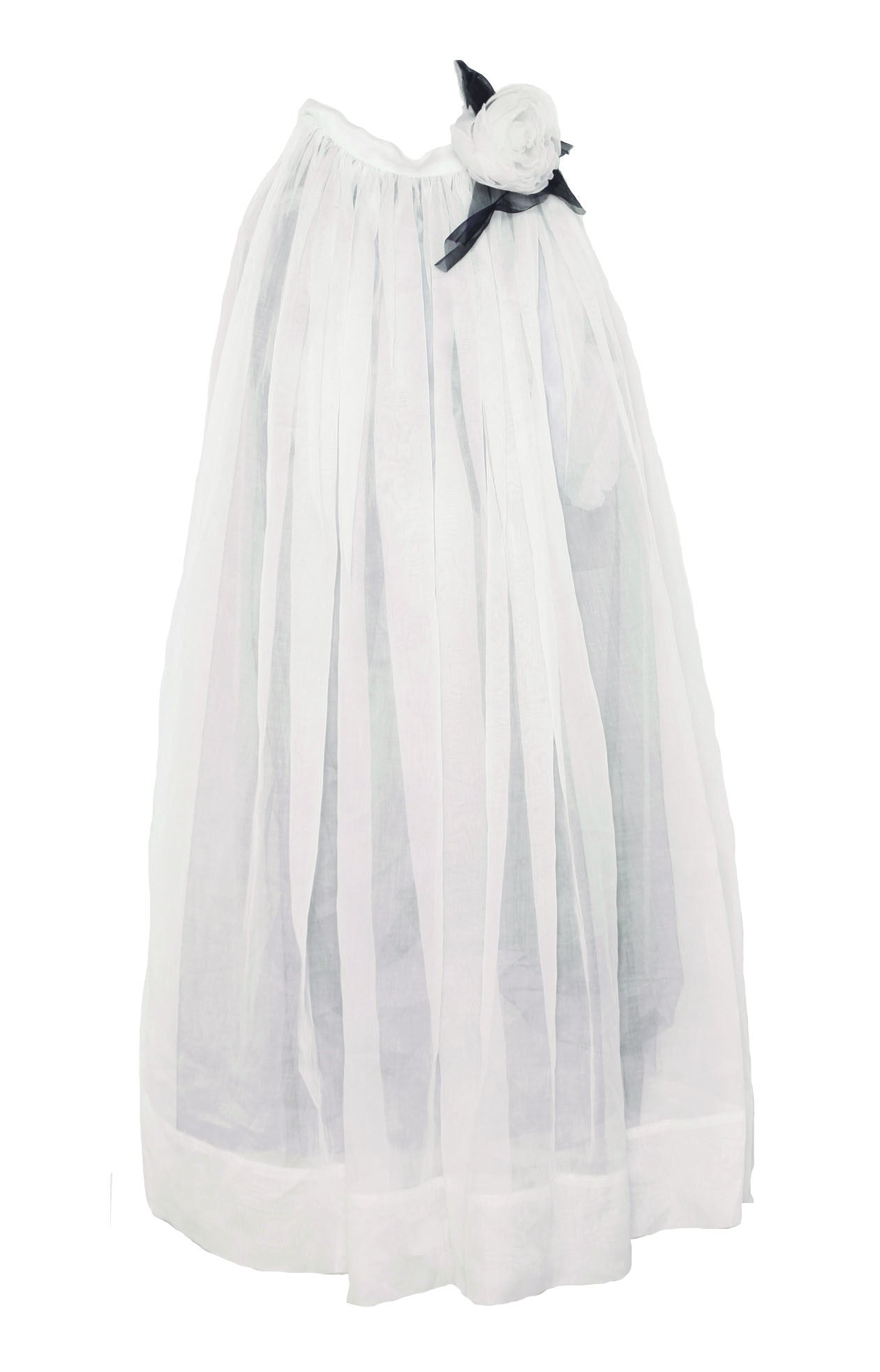 SKIRT LONG ORGANDIE WHITE - Jenny M. London  - 1
