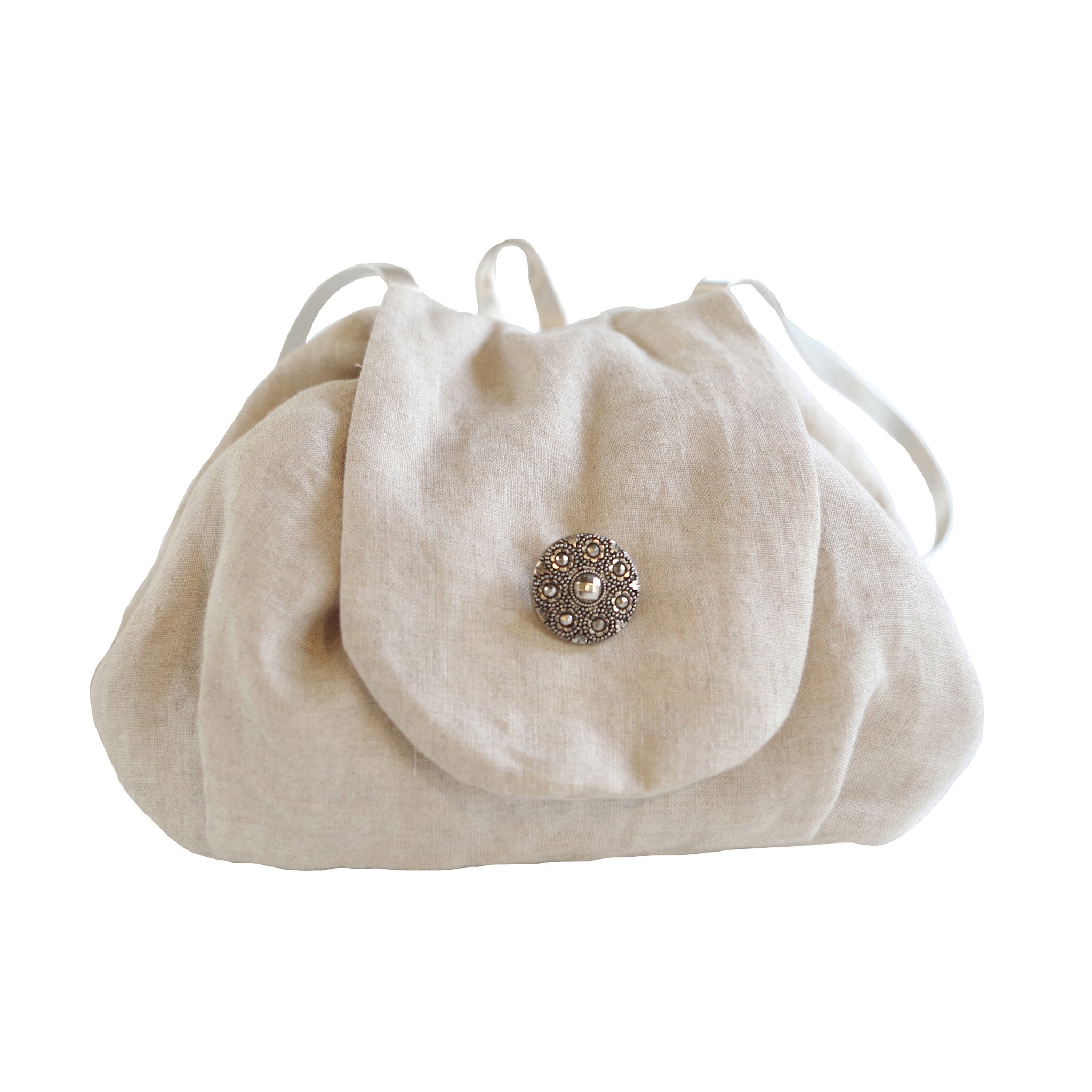 Mini Rucksack Linen Natural - Jenny M. London  - 1