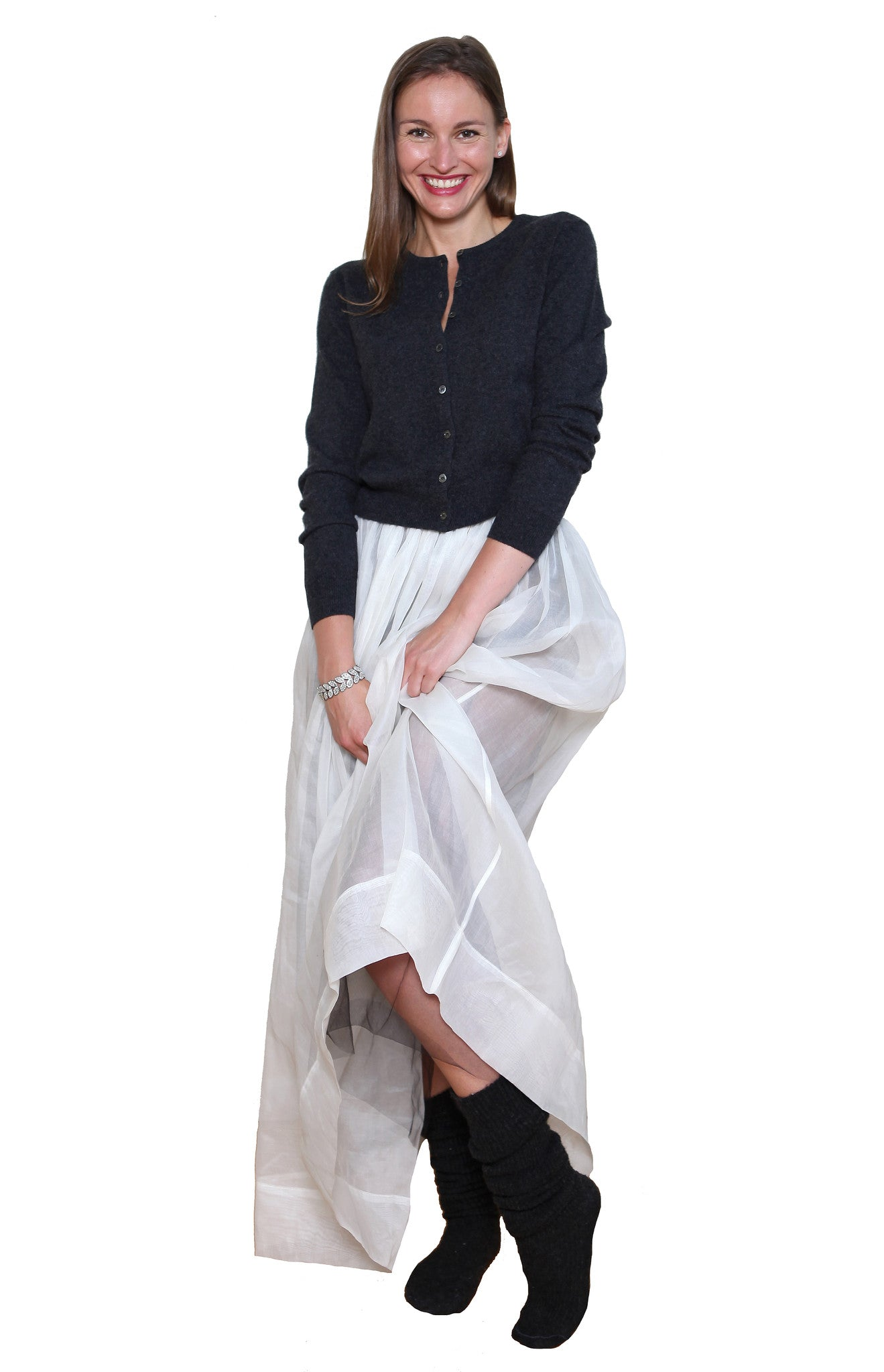 SKIRT LONG ORGANDIE WHITE - Jenny M. London  - 2