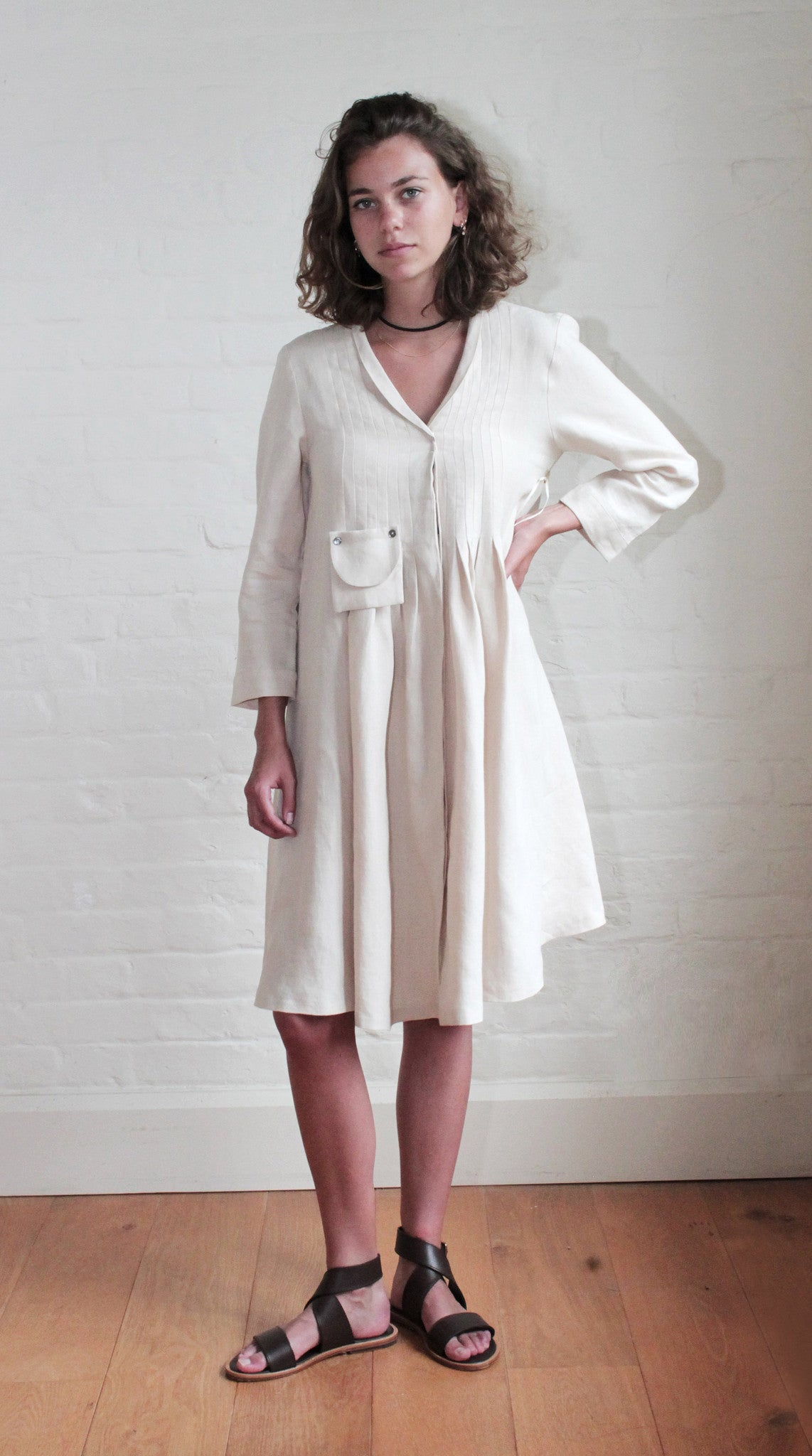 Pin-tucked Smock