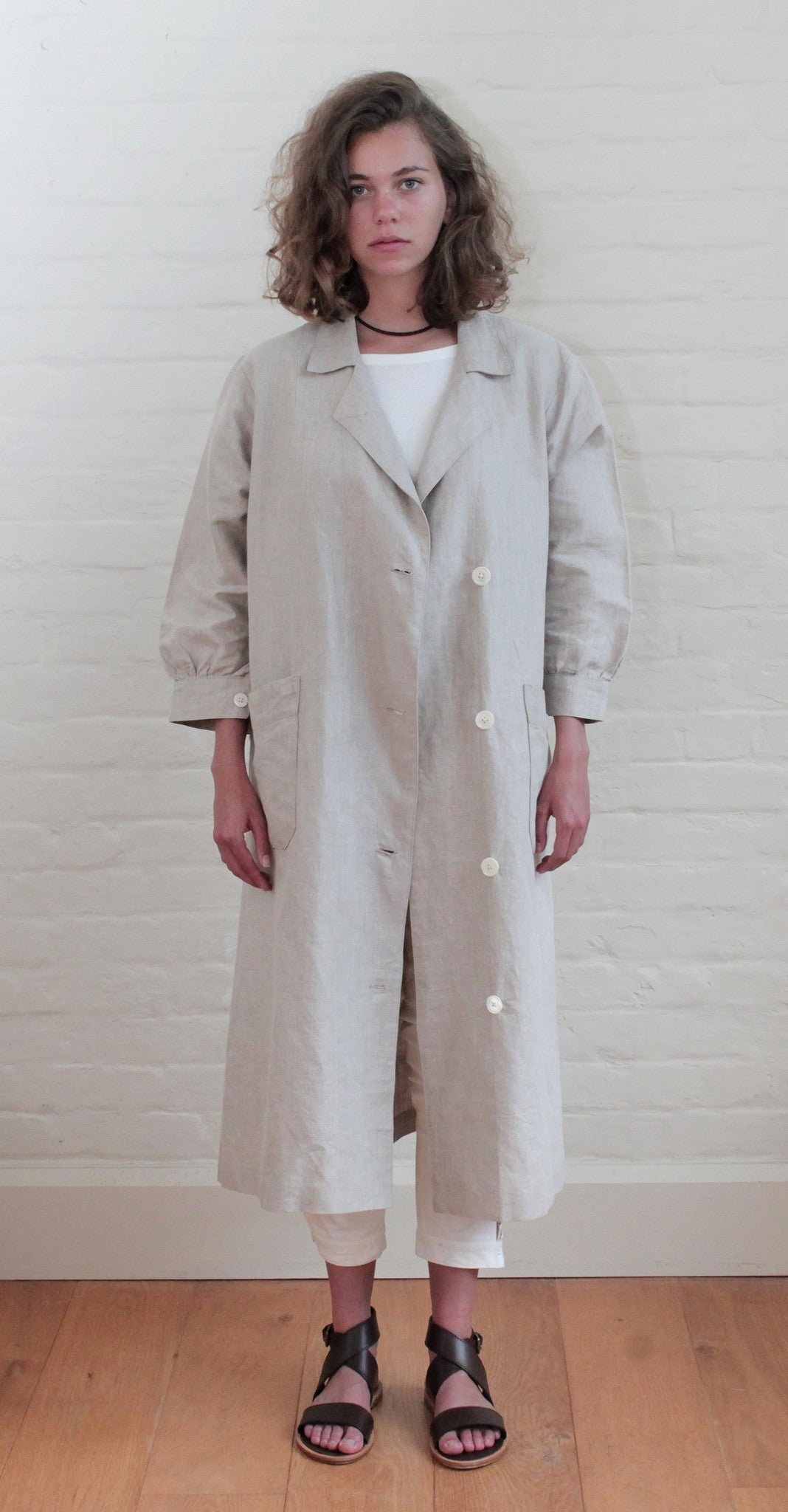 Liberation Coat Linen Natural