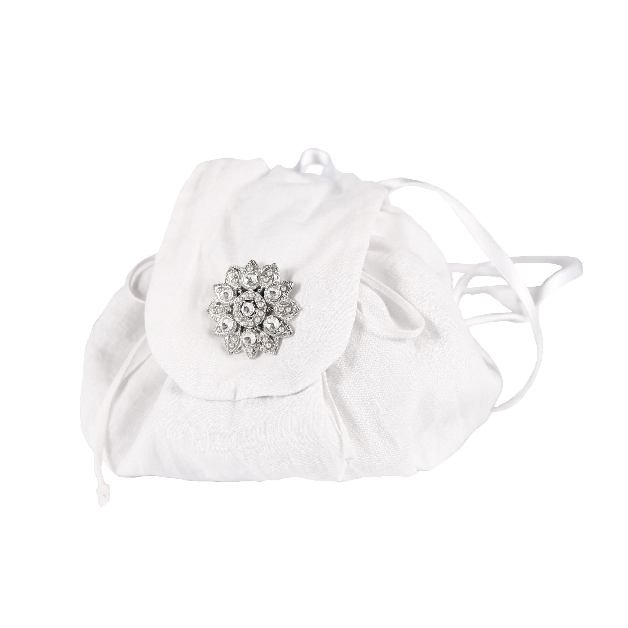 Mini Rucksack Linen White - Jenny M. London  - 1