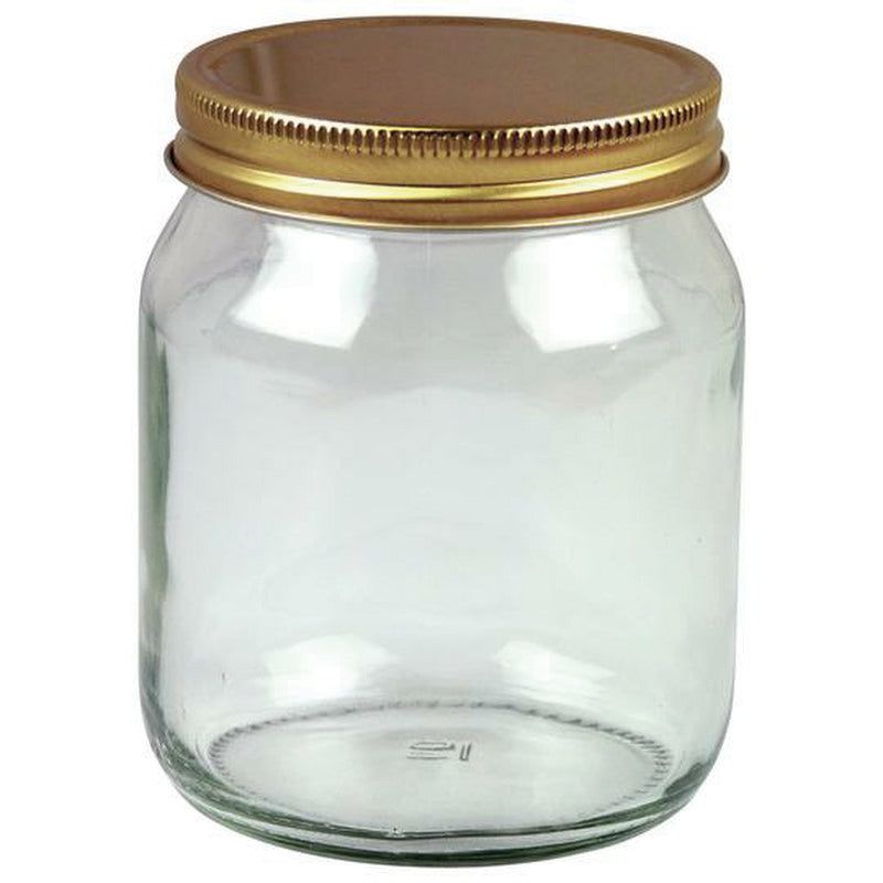 JARS 454G (1LB) WITH LIDS (BOX OF 72)