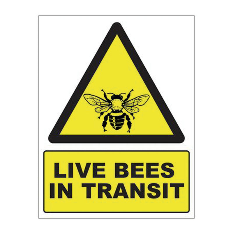 BEES IN TRANSIT MAGNETIC SIGN