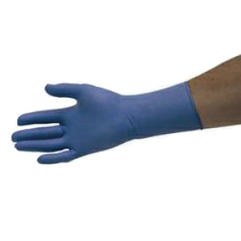 LONG CUFF NITRILE GLOVES