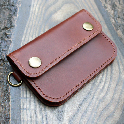 Short trucker wallet in cognac Buttero.