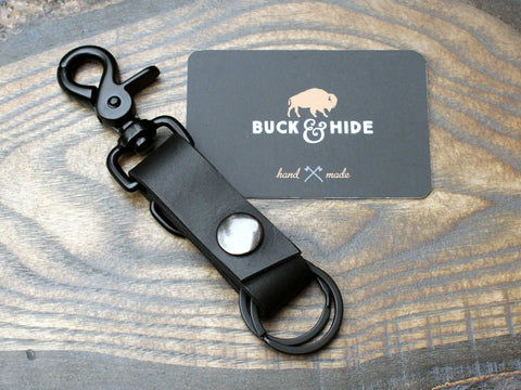 Multiple ring leather key holder. - Buck&Hide