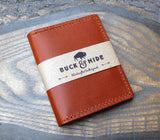 Two tone Cognac and natural Buttero six-slot wallet. - Buck&Hide