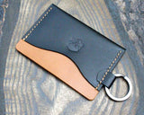 Buttero card sleeve with engraved split ring - Buck&Hide