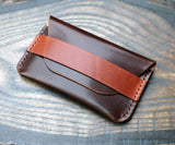 Brown and ruggine Maremma card holder