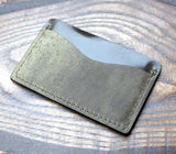 Olive green horse leather card holder