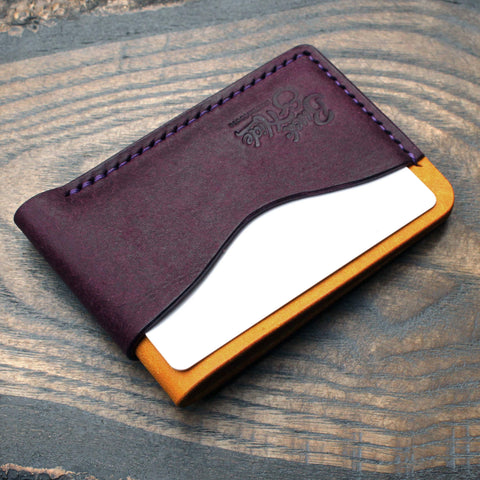 Two tone Pueblo three pocket card holder