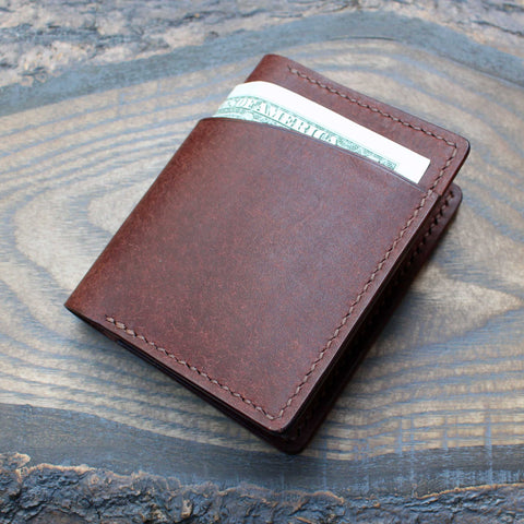 Tobacco brown Pueblo leather bi-fold wallet - Buck&Hide