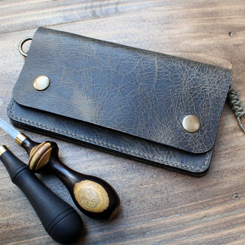 Long trucker wallet in Badalassi Wax