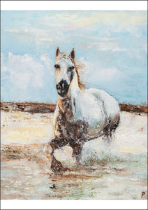 Sea Horse - Print & Original Equestrian Oil Painting for Sale