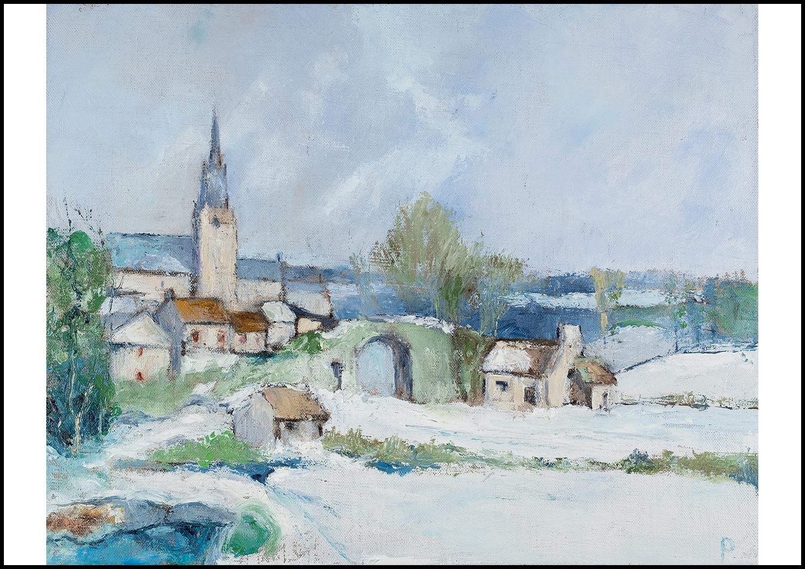 French Snow Scene