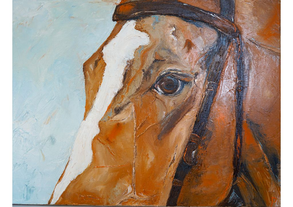 Seraphina - Print & Original Equestrian Oil Painting for Sale