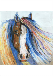 Winston - Contemporary Horse Portrait Print for Sale