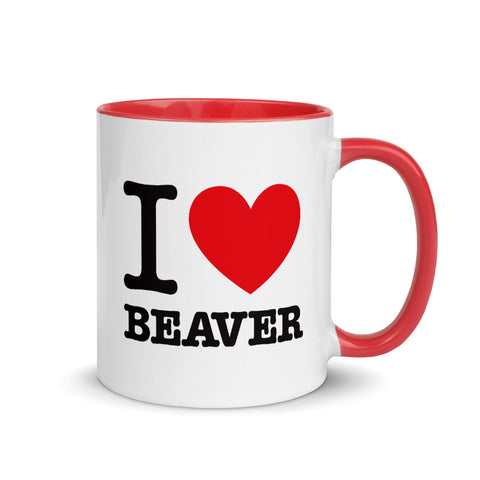 I Heart Beaver Coffee Mug
