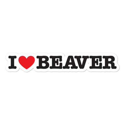 I Hear Beaver Bubble Sticker