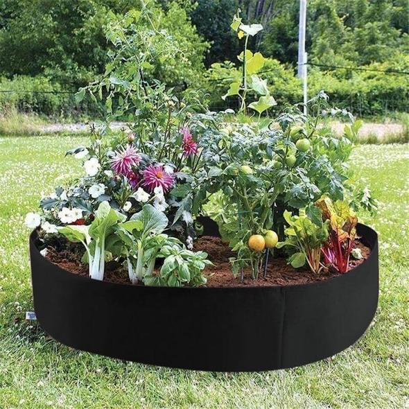 Raised Fabric Flower Bed