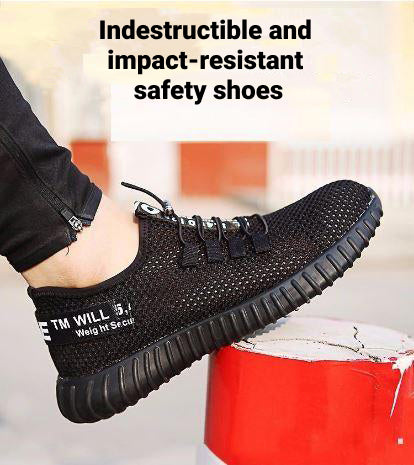 Men's Safety Shoes with Protective Steel Toe Cap
