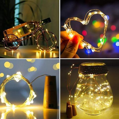Fairy Lights Garland to Decorate Bottles