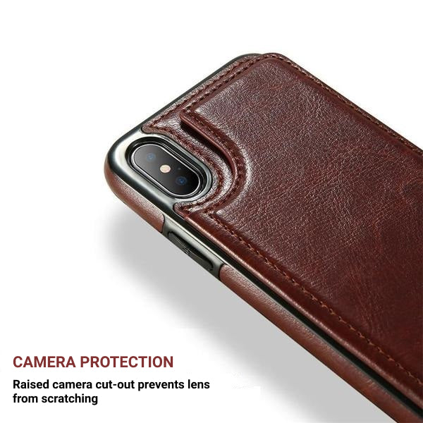 Deluxe Leather Multi-Purpose I-Phone Case