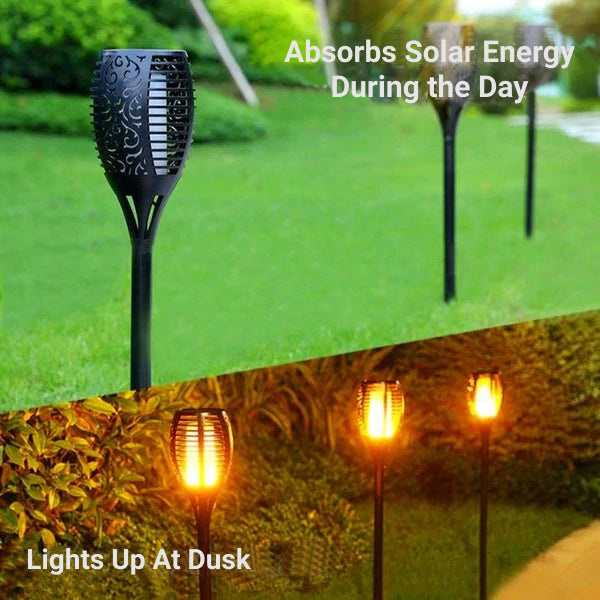 Solar Lantern With Flickering Flame