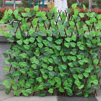 Retractable Artificial Garden Plant Fence