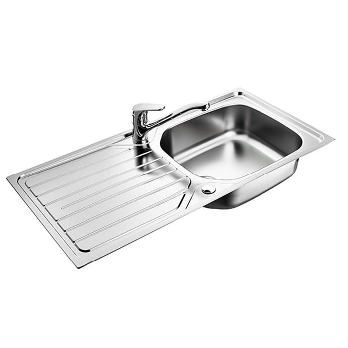 Armitage Shanks Sandringham 1000mm Stainless Steel Kitchen Sink Pack - Unbeatable Bathrooms