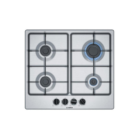 Bosch Serie 4 PGP6B5B60 60cm Gas Hob - Stainless Steel