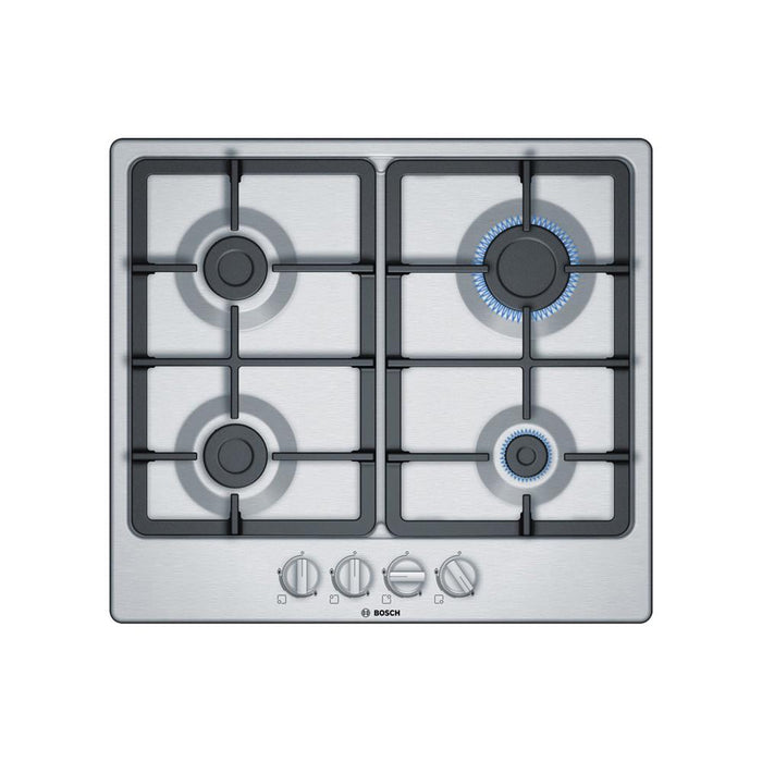 Bosch Serie 4 PGP6B5B90 60cm Gas Hob - Stainless Steel