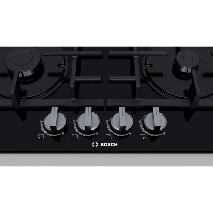 Bosch Serie 4 PNP6B6B90 60cm Gas On Glass Hob - Black Glass Additional Image 3