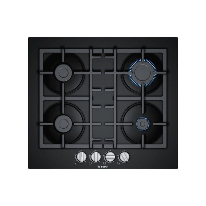 Bosch Serie 4 PNP6B6B90 60cm Gas On Glass Hob - Black Glass