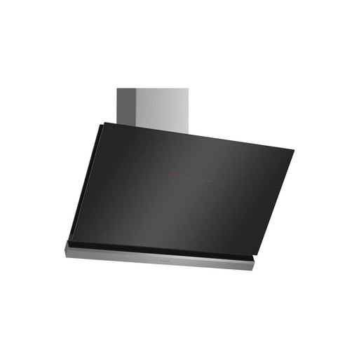Bosch Serie 8 DWK98PR60B 90cm Angled Glass Chimney Hood - Black