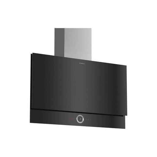 Bosch Serie 8 DWF97RV60B 90cm Flat Slim Designer Chimney Hood - Black Glass