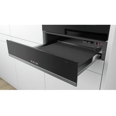 Bosch Serie 6 BIC510NS0B 14cm Warming Drawer - Black & Stainless Steel