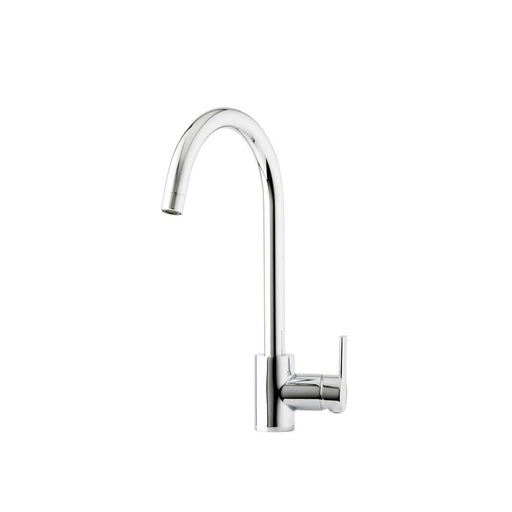Kitchen Prima Single Lever Soho Swan Neck Mixer Tap Brushed