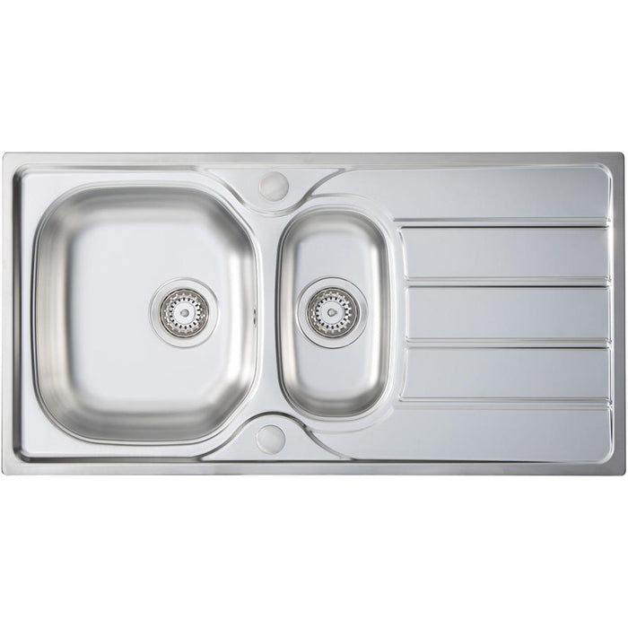 Kitchen Prima 1.5B 1D REV Stainless Steel Inset Sink-additional-image-1