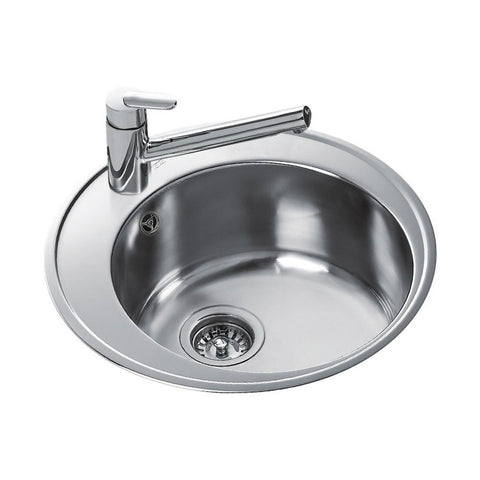 Teka Centroval 45 Single Round Bowl Inset Sink- Stainless Steel