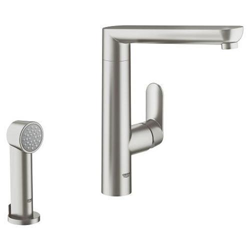 Grohe K7 1/2 Inch Single Lever Sink Mixer with Side Spray - Unbeatable Bathrooms