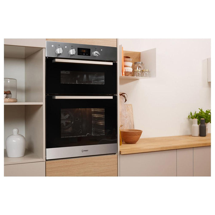 Indesit IDD 6340 IX B/I Double Electric Oven - Stainless  Steel Additional Image 3