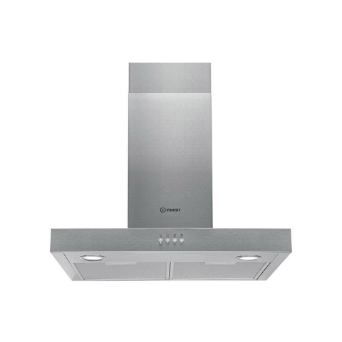 Indesit IHBS6.5LMX 60cm Flat Chimney Hood - Stainless  Steel