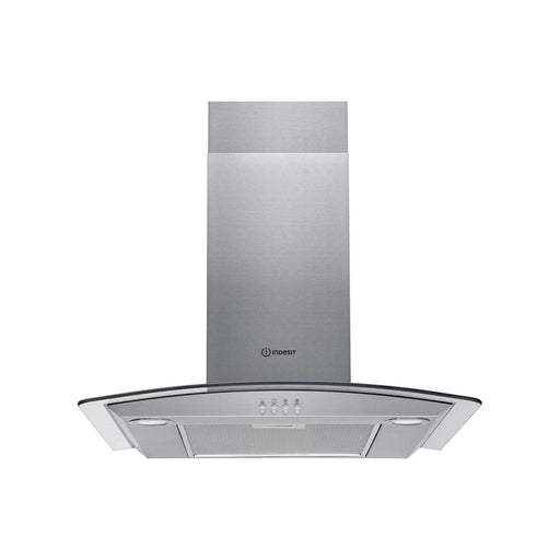 Indesit IHGC 6.5 LM X 60cm Chimney Hood - Stainless  Steel