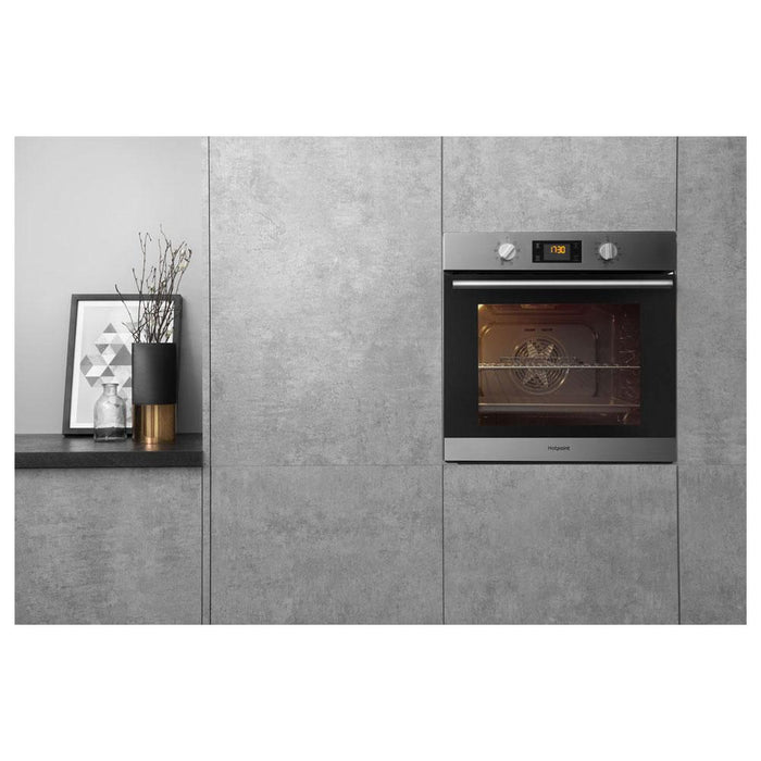 Hotpoint Built In Single Electric Oven - Stainless Steel-additional-image-2